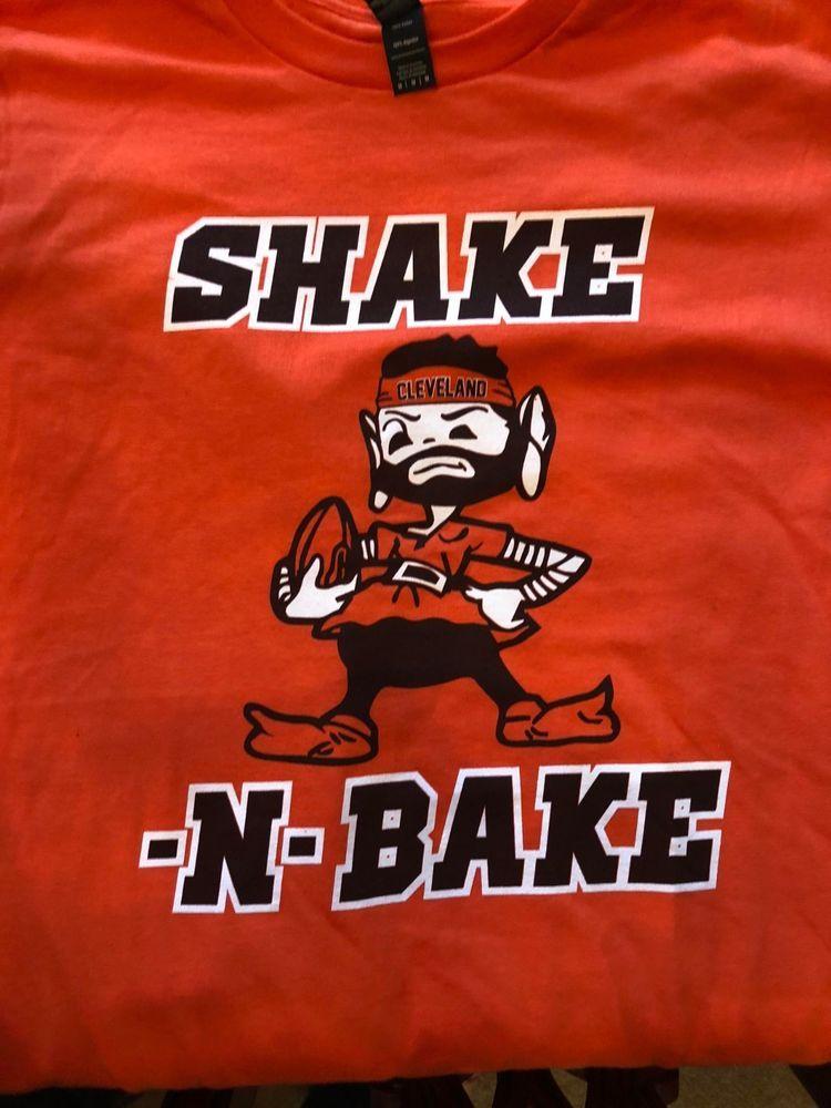 5fbb59ba Cleveland Browns Shake and Bake Baker Mayfield #6 T Shirt Elf…@ebay ...