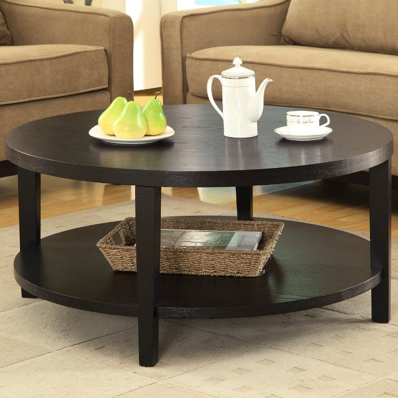 Fabiano coffee table round wood coffee table round