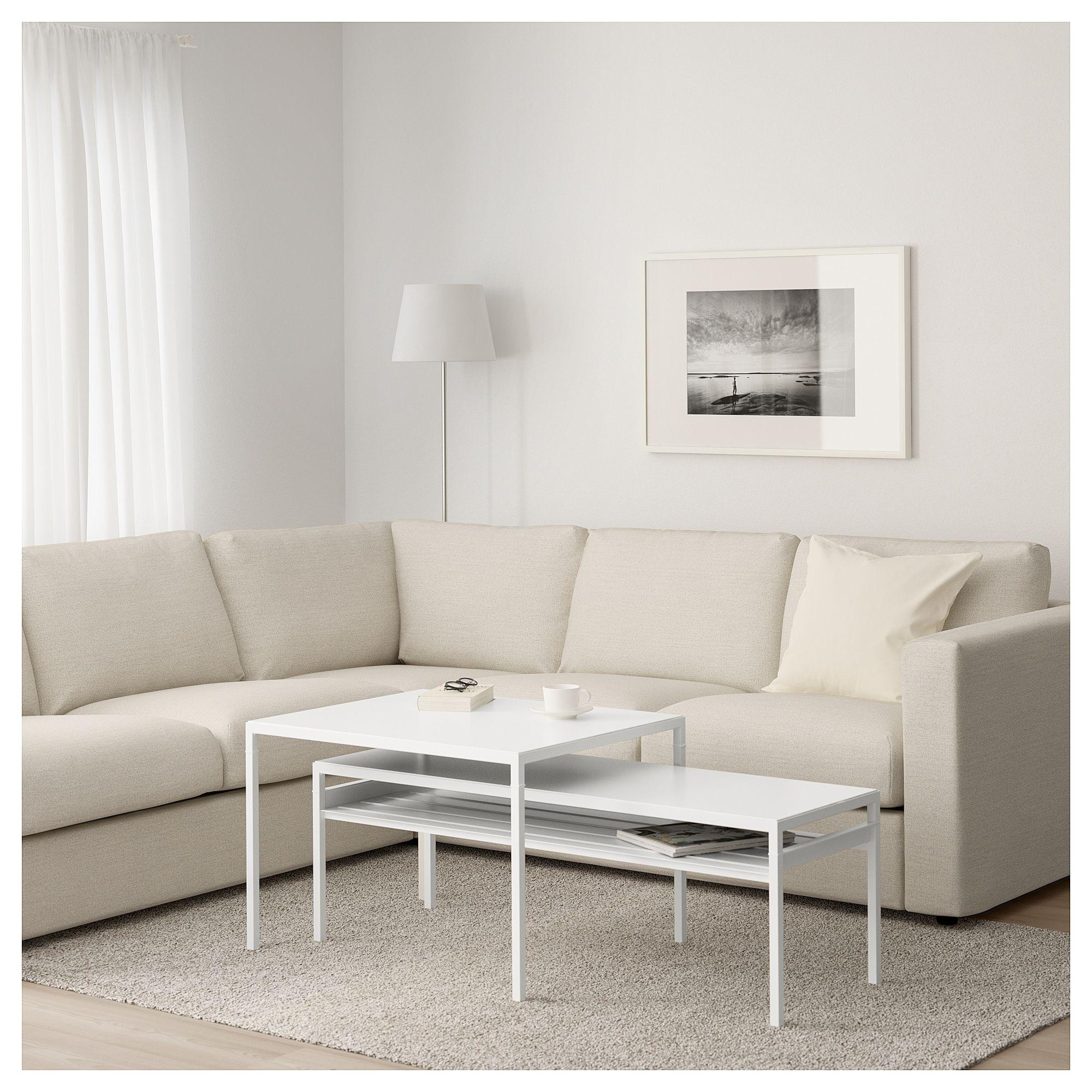 Nyboda Satztisch Wendbare Platten 2er Set Weiss Grau Mit Bildern