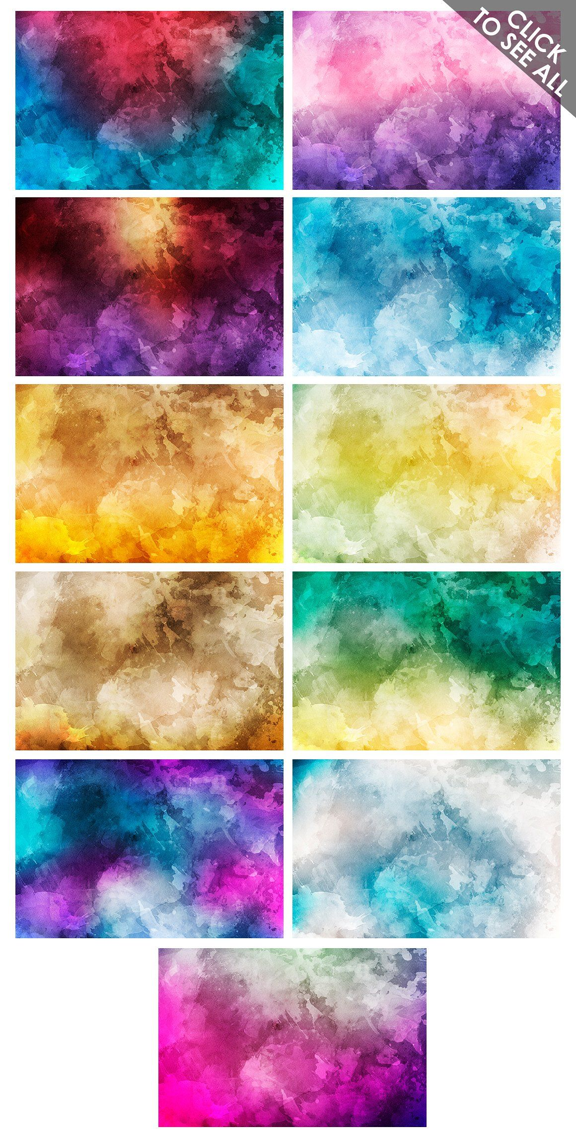 Only Watercolor Backgrounds Bundle By Artistmef On