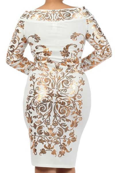 gold plus size dresses (02