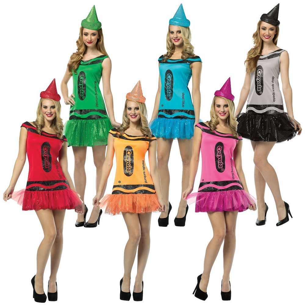 Crayola Crayon Party Dress Funny Group Adult Costume Fancy