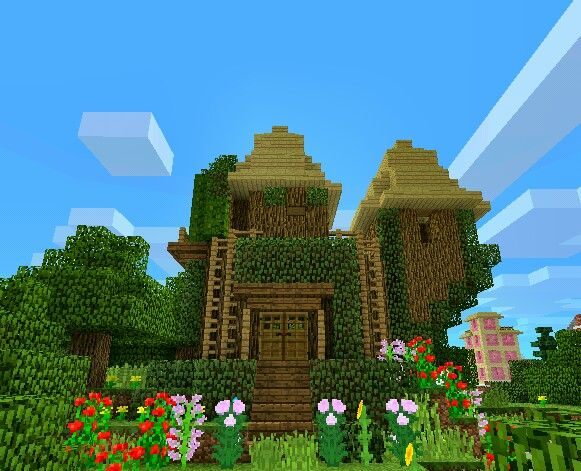 Minecraft Fairy House Made On PE Projects To Try Pinterest - Minecraft hauser bauen spiele