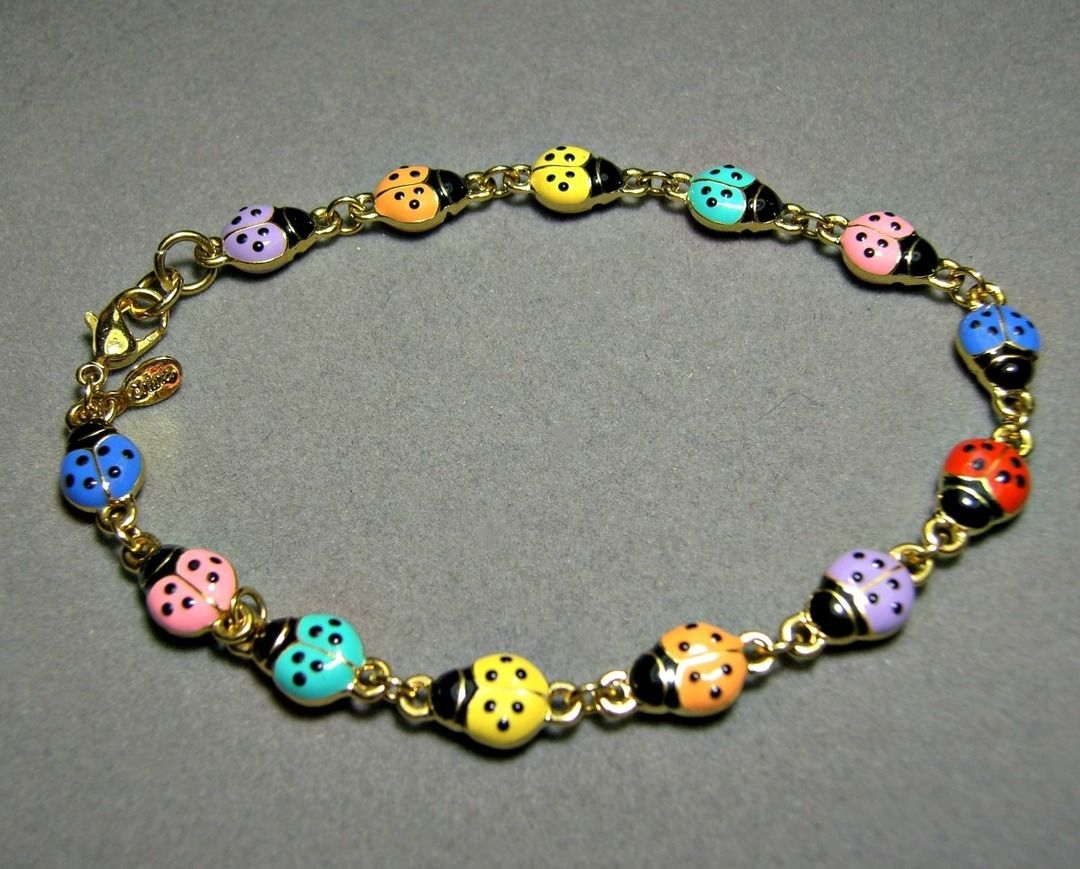 Vintage Joan Rivers Ladybug Bracelet Heavy    Bookpiece