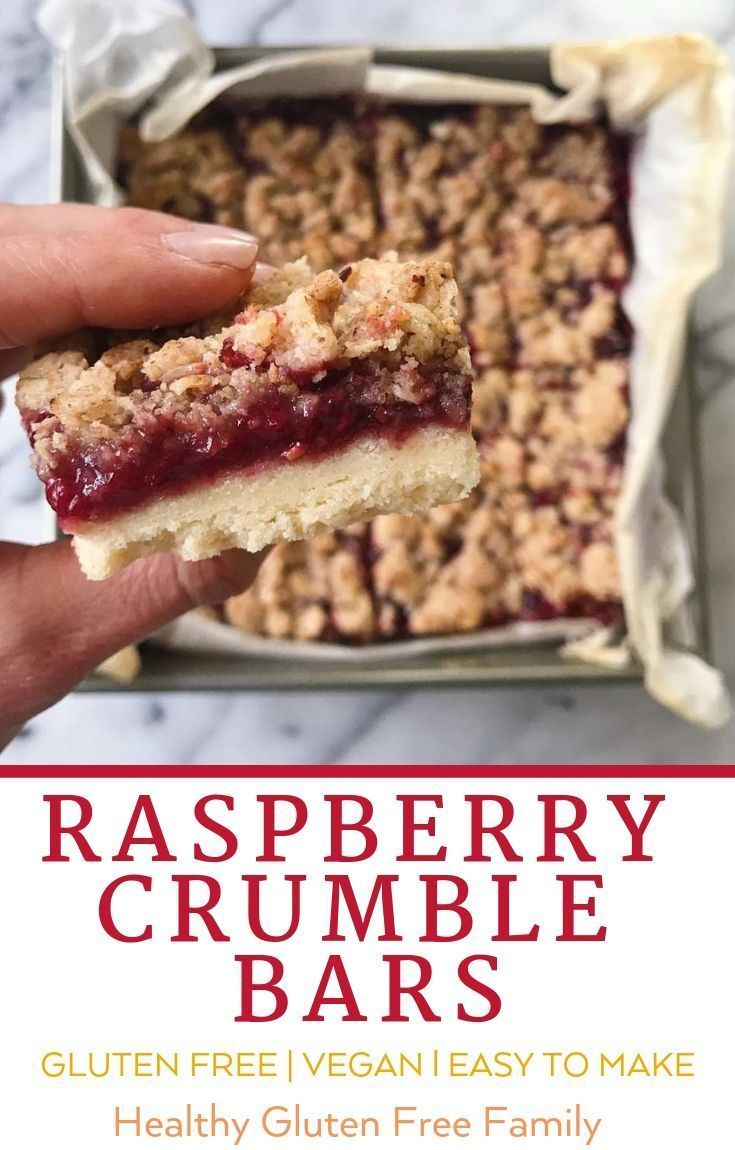 Photo of Raspberry Crumble Bars | healthyGFfamily.com