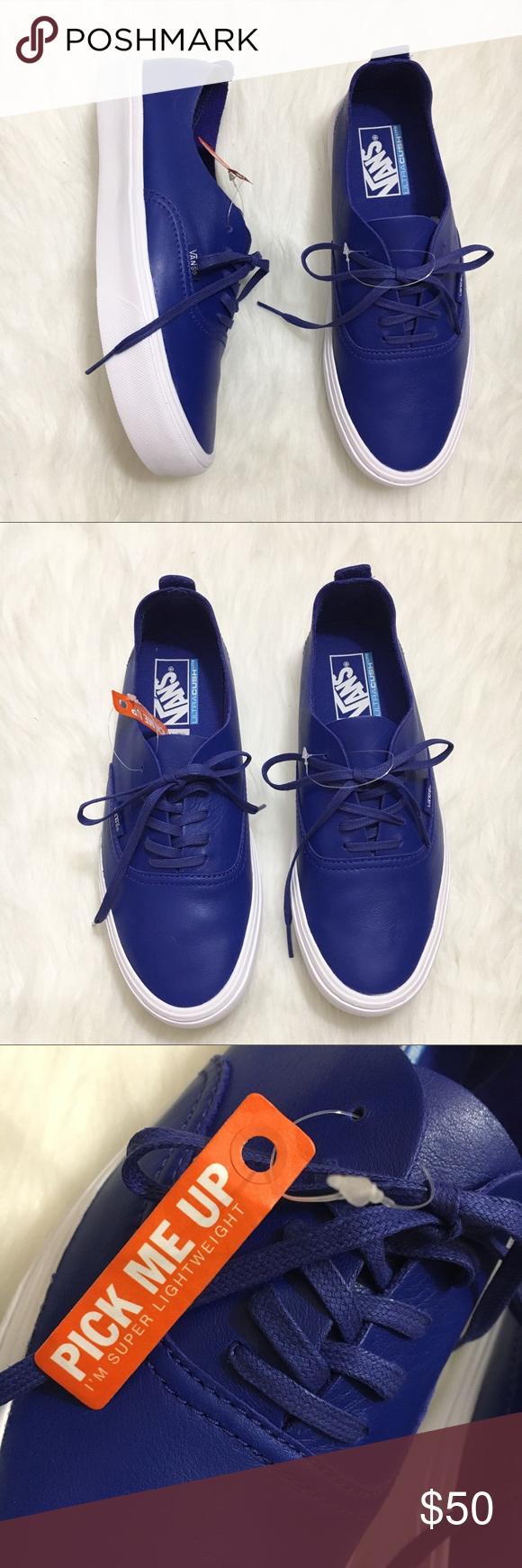 ed12f71030 Vans Ultracrush Lite Blue Sneakers Unisex NWT