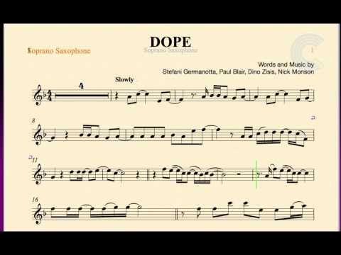 Soprano Saxophone Dope Lady Gaga Sheet Music Chords And