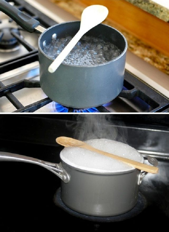 How To Stop A Boiling Pot From Spilling Over With A Wooden Spoon