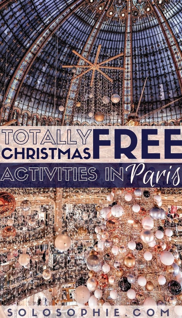 Fun & Free Christmas Activities in Paris for the holiday season