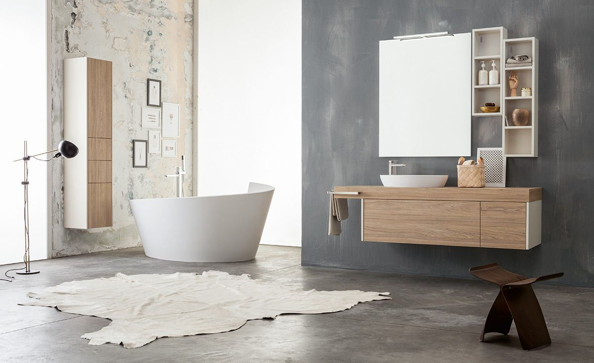 Modern Waschtischunterschrank Holz Hange Kit Kami 08