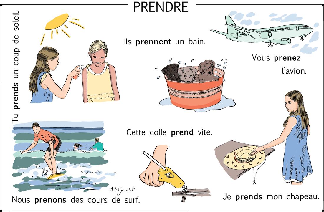 Czasowniki trzeciej grupy - czasownik prendre - zwroty 2 - Francuski przy kawie