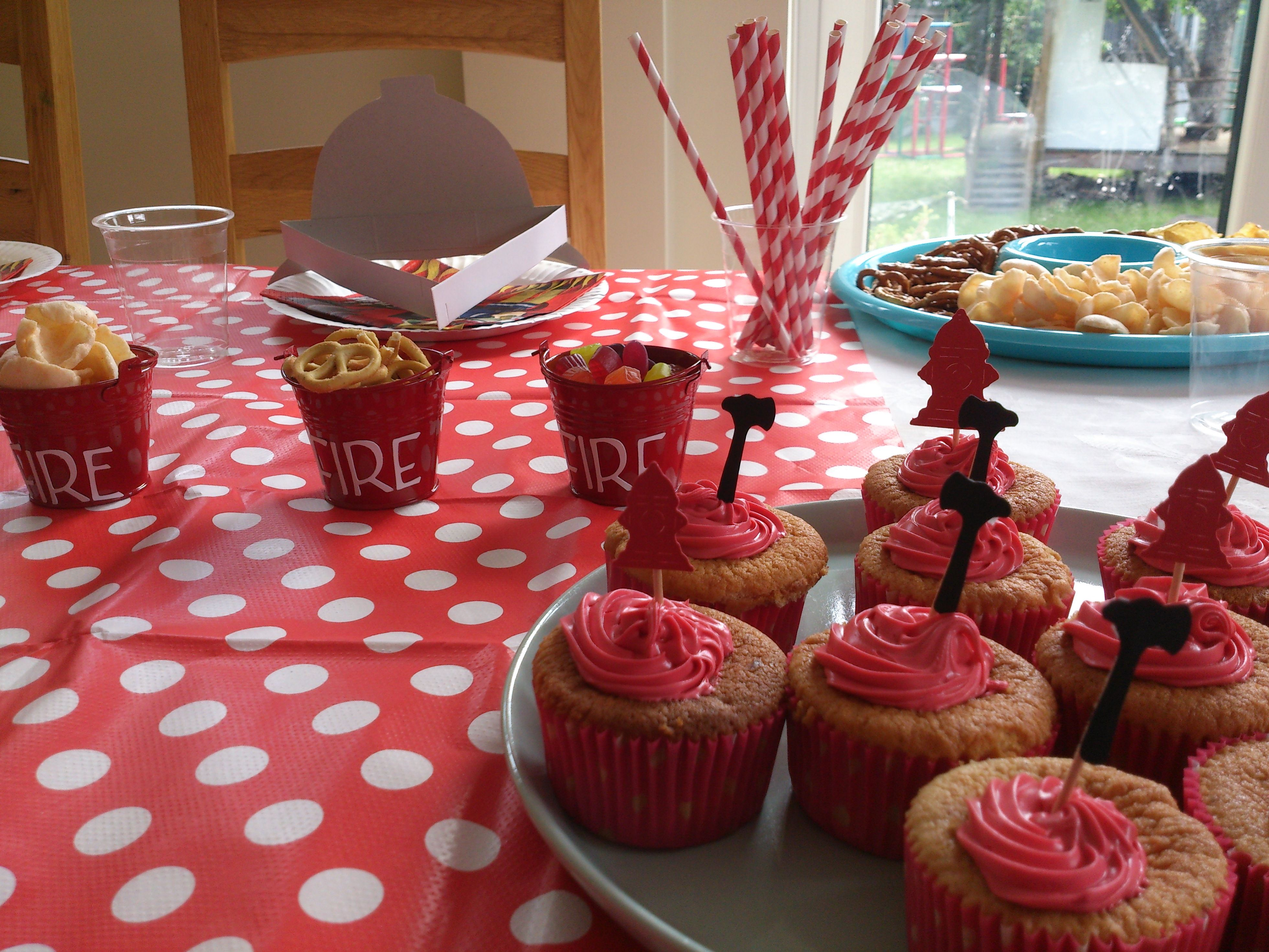 Fireman themed party