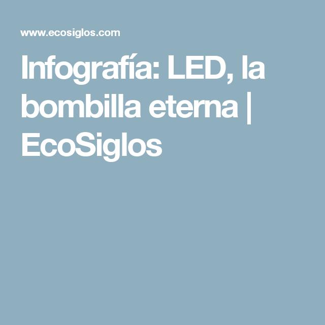 Infografia Led La Bombilla Eterna Con Imagenes Bombillas Led Infografia