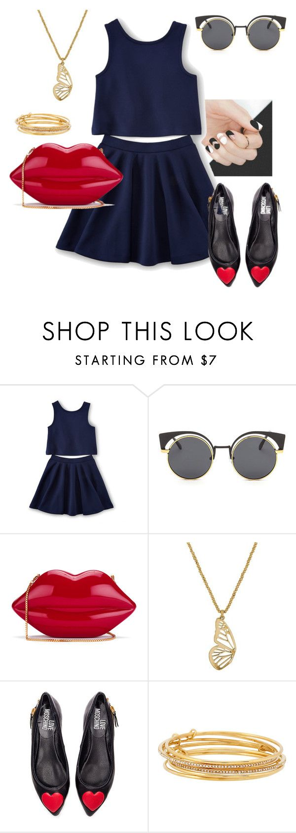 """Last of the Summer Days"" by emma-oloughlin ❤ liked on Polyvore featuring Lulu Guinness, Lucky Brand, Love Moschino and Kate Spade"