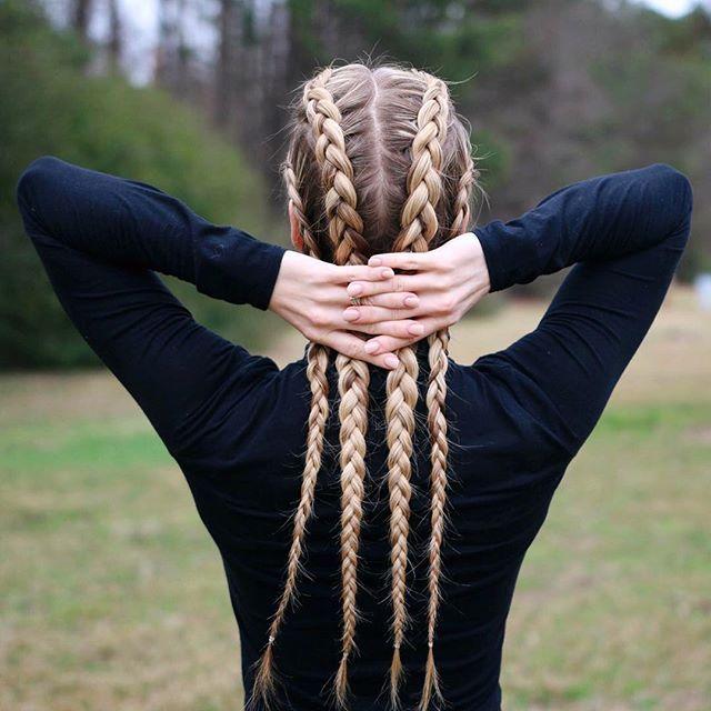 Twisted Mermaid Braid Hair Styles Braided Hairstyles Two Dutch Braids