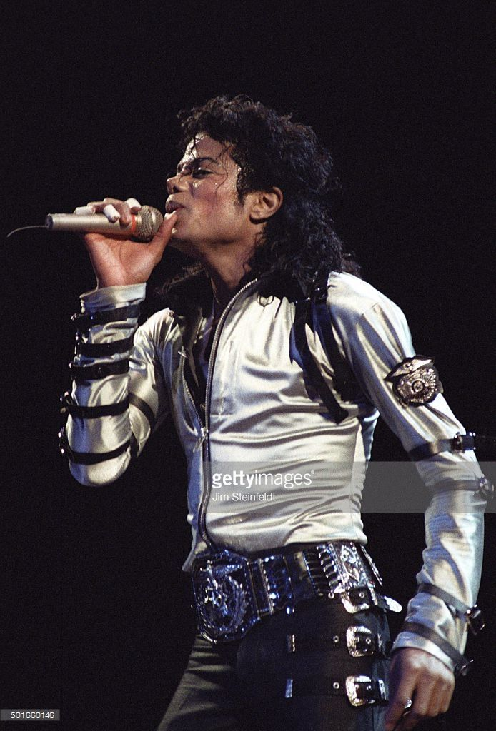 Pop singer michael jackson performs on stage at the met for House music 1988