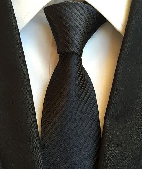 Luxury Men/'s Formal Business//Wedding Plain Striped ties Silk Neckties 8CM Wide