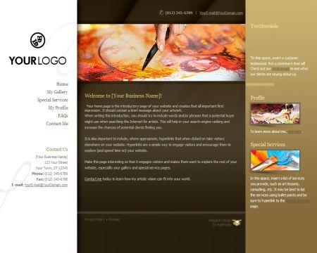 Free Artist Website Design Theme Artist Website Design Pinterest - Free artist website templates