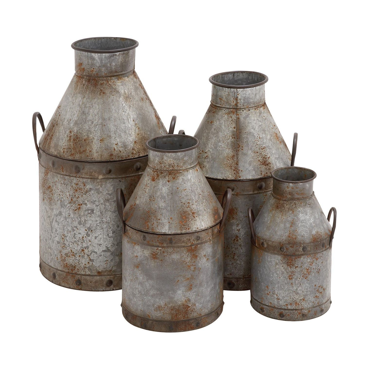 Woodland Imports D�cor Rustic Intricated Wall D�cor: Woodland Imports 20270 The Rustic Metal Pots