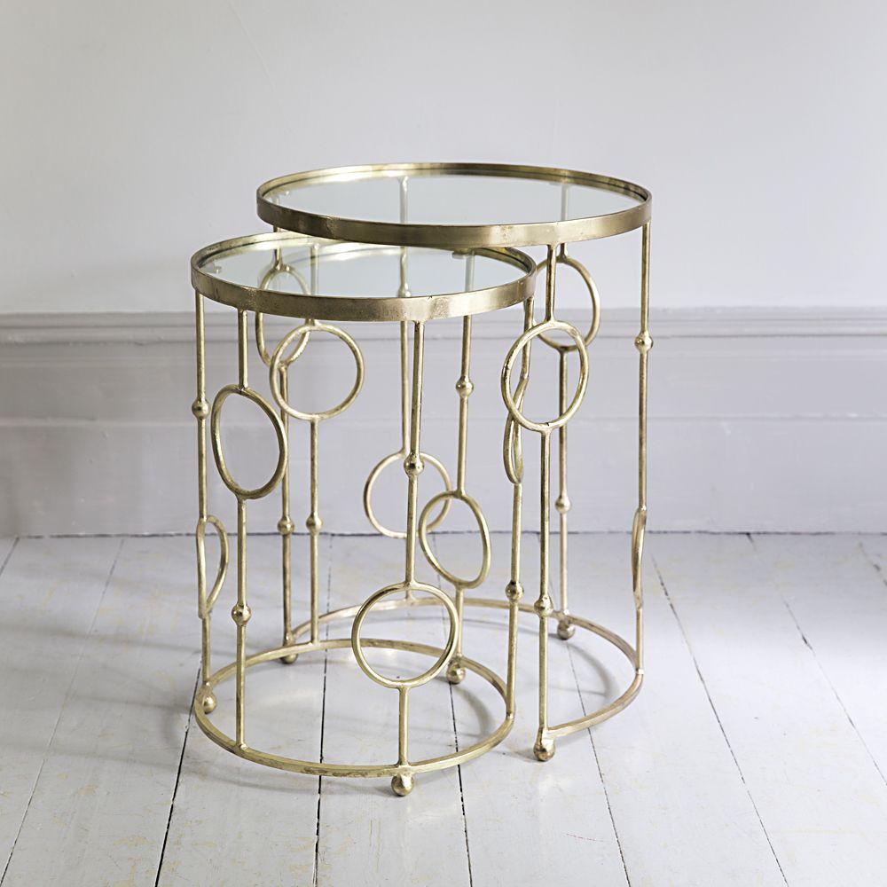 chiswick glass nesting side tables www atkinandthyme co uk art rh pinterest com