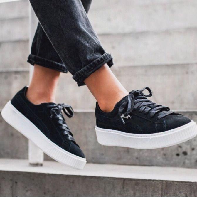Puma Shoes   Puma Platform Sneakers   Color: Black/White ...