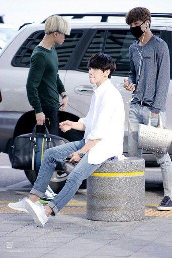 140905- EXO Byun Baekhyun at Incheon Airport to Jakarta #exok #korean #men #fashion #style #kfashion #kstyle