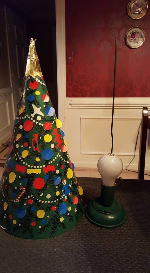 1950 S L A Goodman Motion Lamp Tree With Spinner Christmas Ornaments Holiday Decor Christmas
