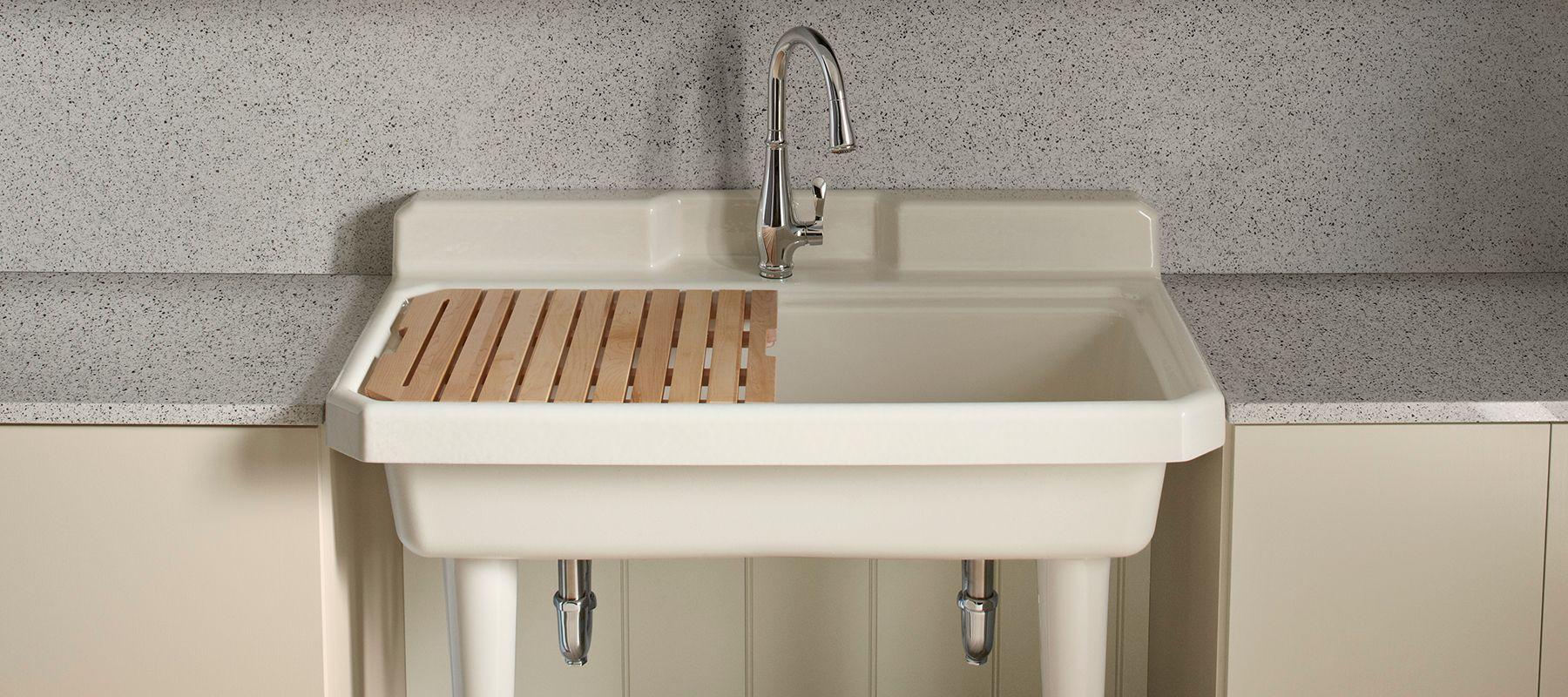 Kohler Enameled Cast Iron Utility Sinks Kitchen Kohler With
