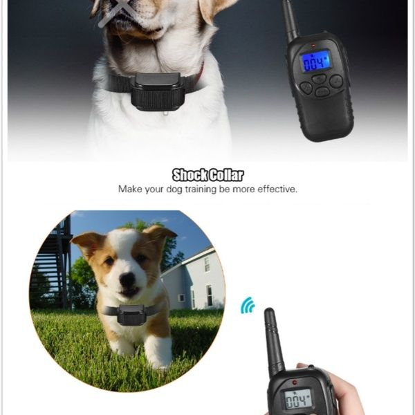 Waterproof Electric Shock Vibra Remote Dog Pet Safe Training