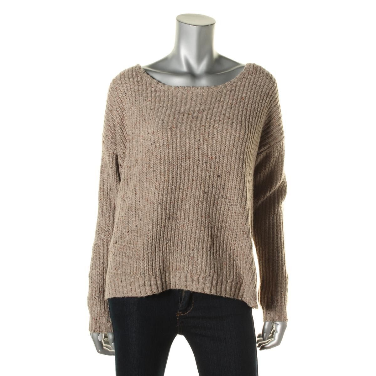 Soft Joie Womens Wool Blend Ribbed Knit Pullover Sweater