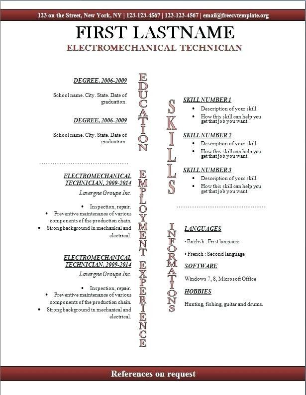 Cool Openoffice Resume Template Pictures Resume Templates Open