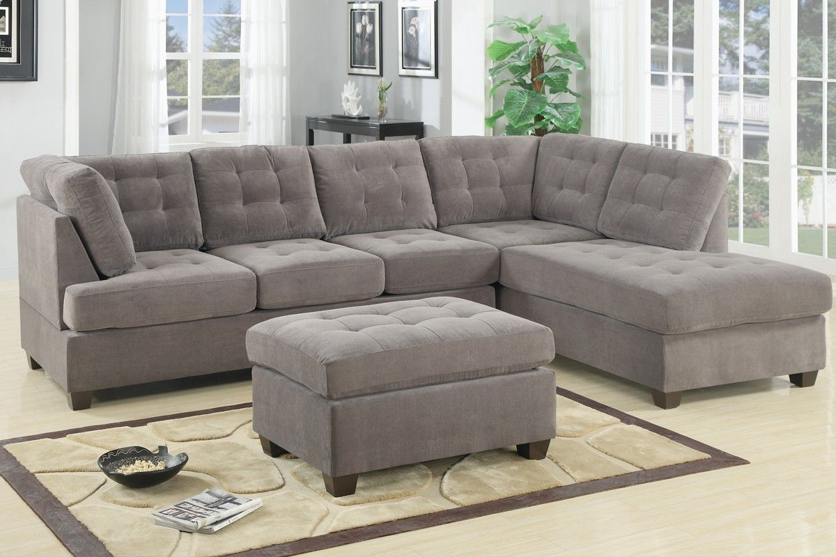 Sofas amp sectionals bedroom dining room chairs amp stools rugs accents - Room F7139 Waffle Suede Reversible Sectional Sofa