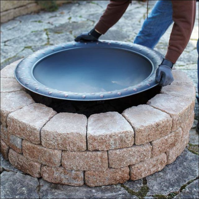 Diy Above Ground Fire Pit Outside Outdoor Fire 640 x 480