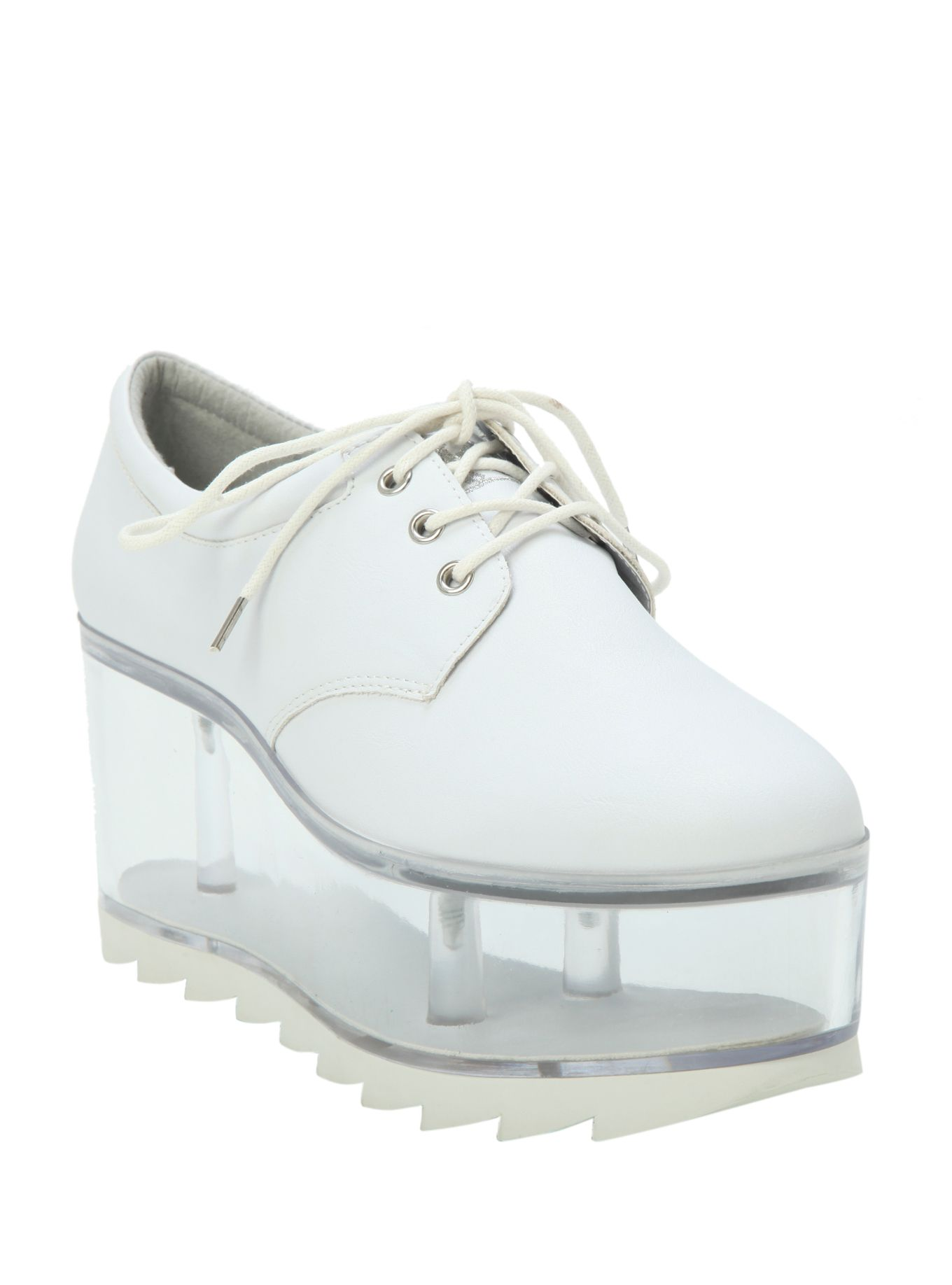 2734345bbd8 White   Clear Platform Shoes