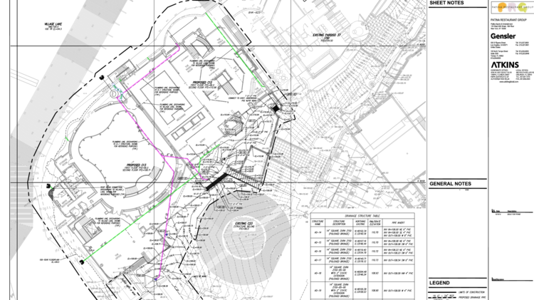 These Disney Springs permits show the layout of The Edison and the possible layout of the rumored Walt's restaurant.