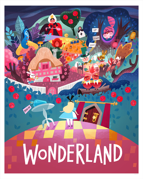 Alice in Wonderland (print) - Nucleus   Art Gallery and Store