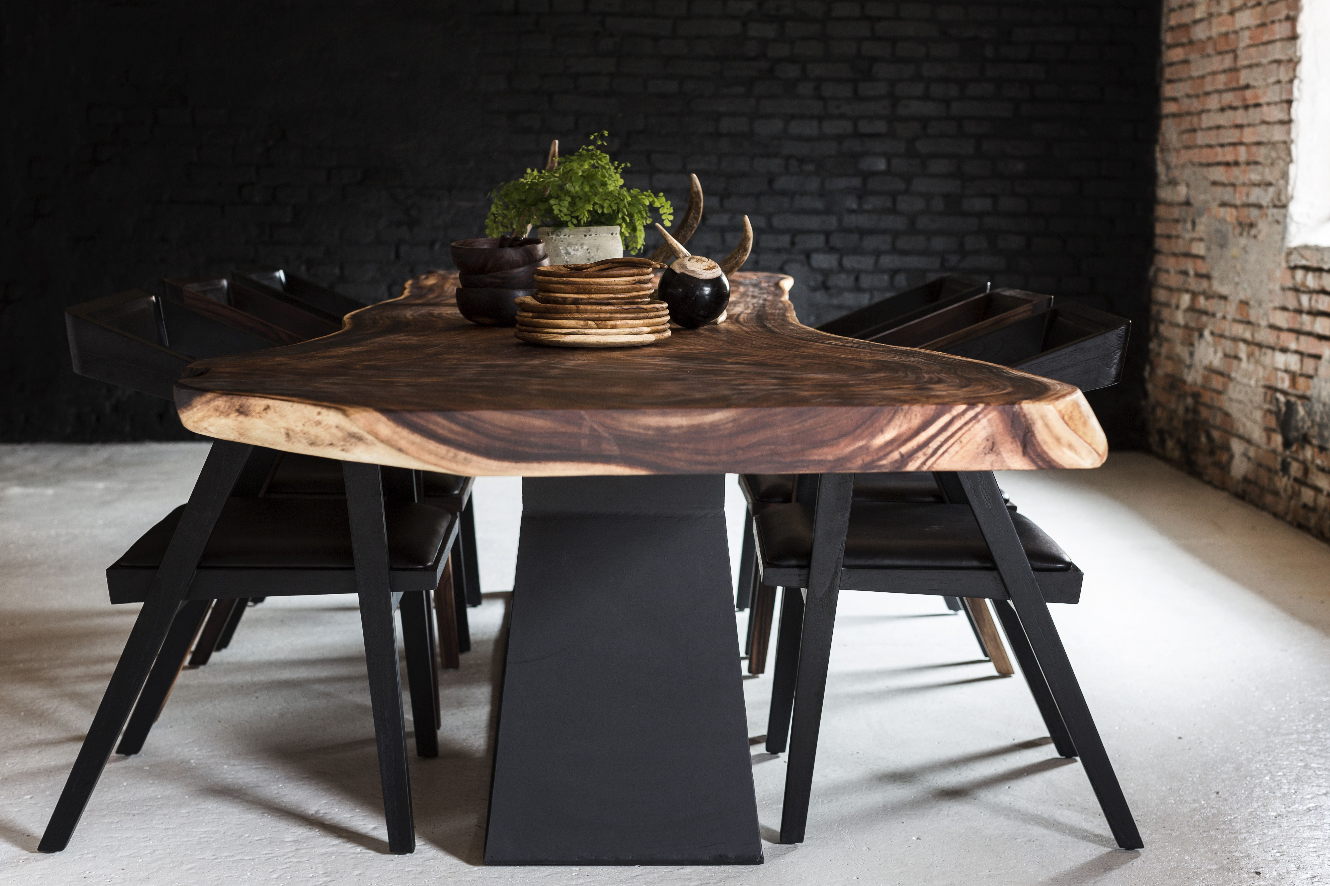 Formel Wood Table Done In Exotic Wood Called Suar#trembesi#monkeypod#