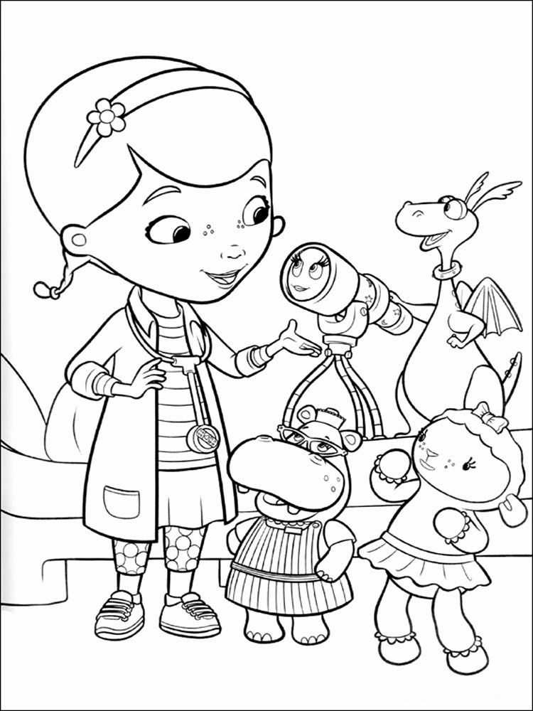 Doc Mcstuffins Coloring Page Lovely Doc Mcstuffins Coloring Pages Free Printable Doc Mcstuff Doc Mcstuffins Coloring Pages Coloring Books Disney Coloring Pages