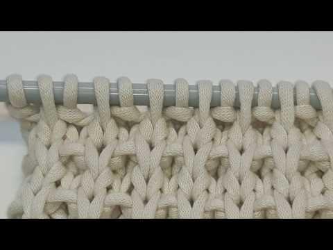 How To Knit Basket Rib Stitch Pattern Youtube Rg Desenleri