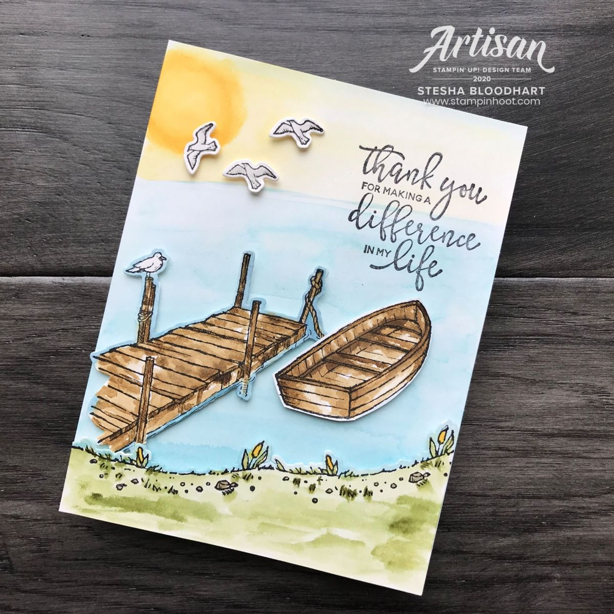 Pals Blog Hop: Art From the Heart - By the Dock | Stampin' Hoot