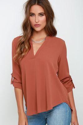 bf8ca0b267f V-neck Slim Chiffon Plus Size Women s Blouses Material  Polyester ...