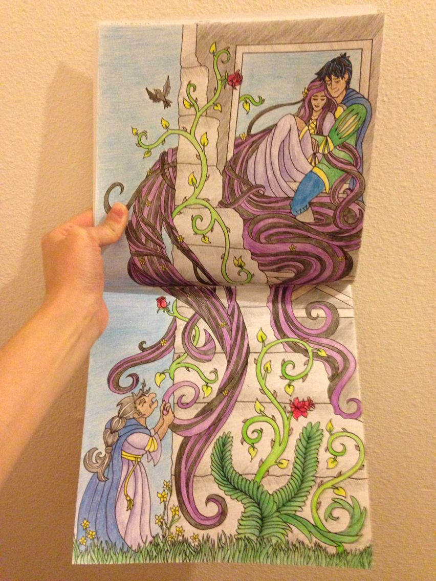 Rapunzel From Enchanted Kingdom A Fairy Tale Coloring Book Order Today Via Amazon