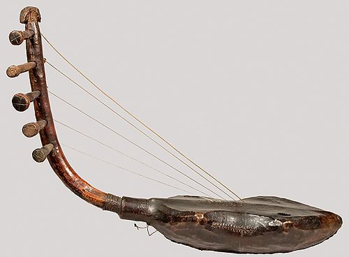 Arched Harp Democratic Republic Of Congo Ca 1900 Harps And Other