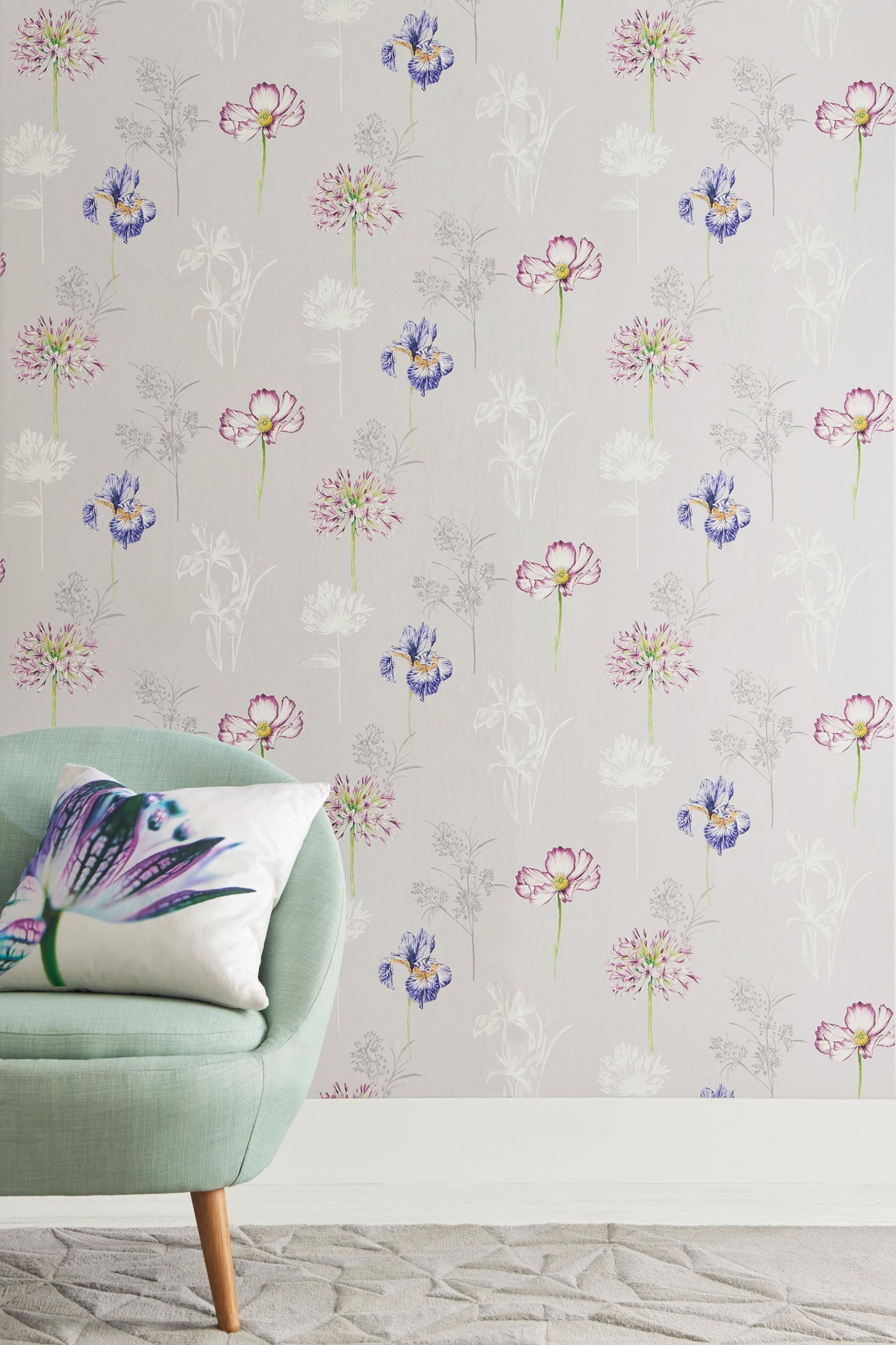 Buy Paste The Wall Illustrative Fusion Flower Wallpaper from the