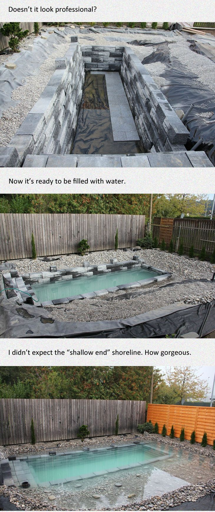 His Idea For A Backyard Seems Crazy At First But After Seeing The Result Absolutely Genius Backyard Ponds Backyard Natural Pool Backyard diy natural pool
