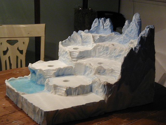 Christmas Village Platforms.Sculpted North Pole Display Xmas Village Christmas
