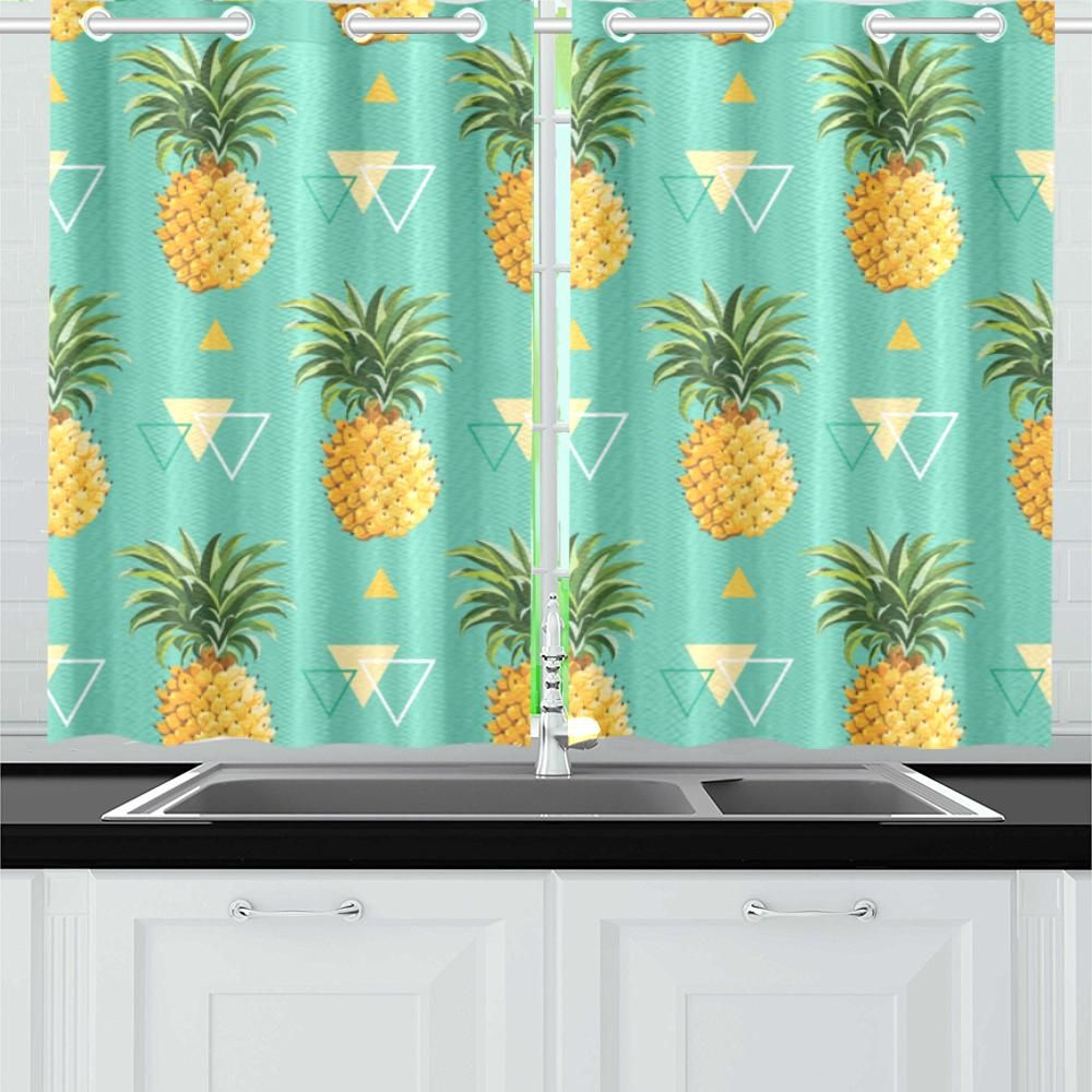 Pineapple Kitchen Curtain H4 Kitchen Curtains Curtain Decor Simple Curtains
