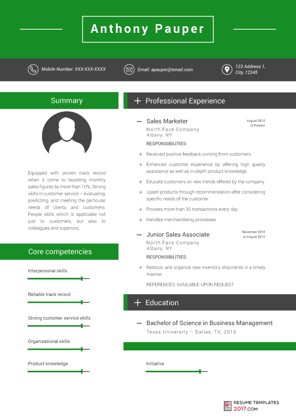 Marketing Resume Templates Coming Up A Strong Eyecatching Company Profile Is Important In