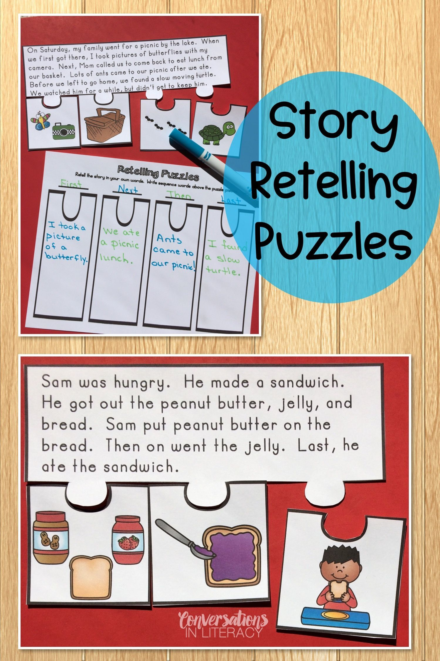 small resolution of Story Retelling and Sequencing Puzzles   Independent Work Packets   Reading comprehension  activities