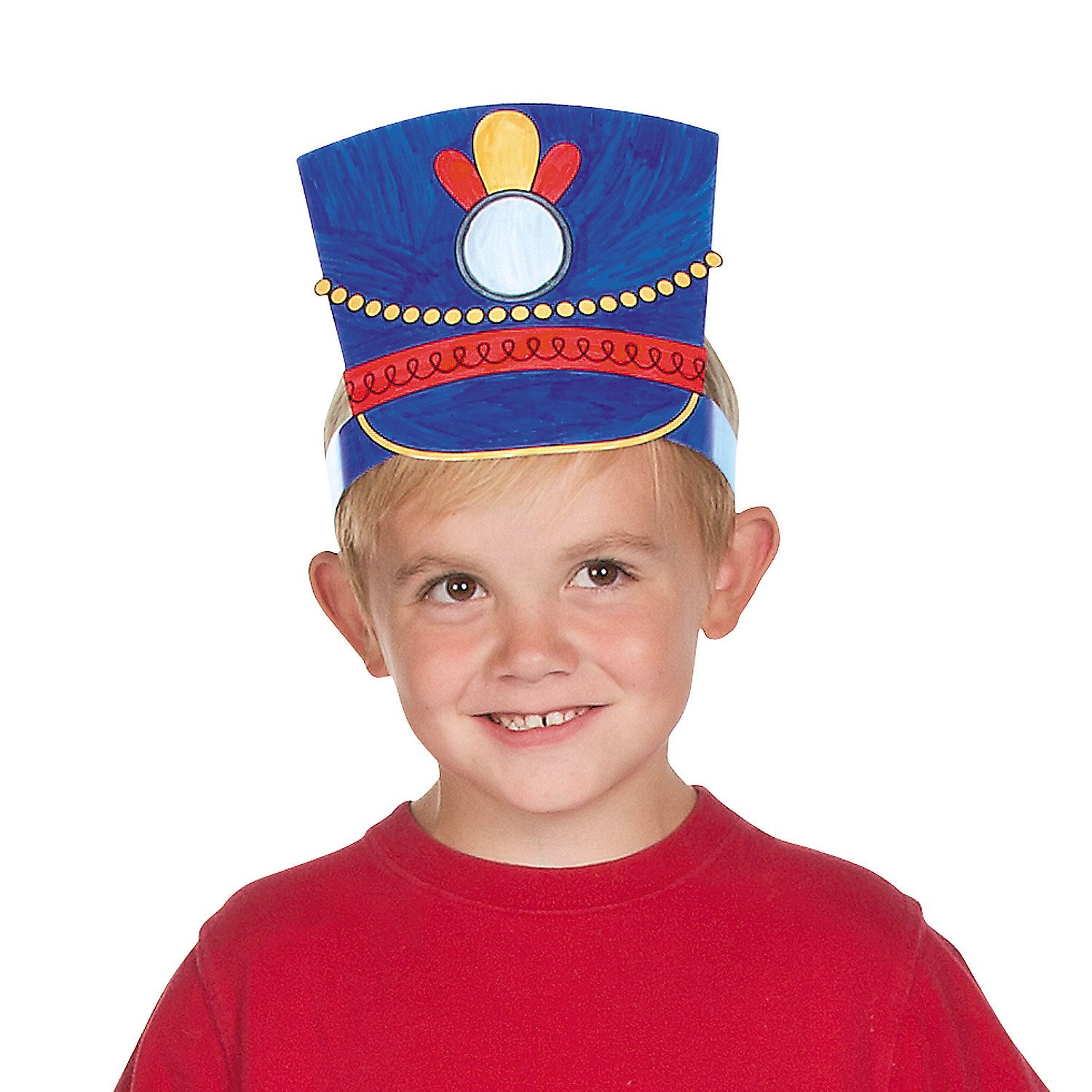 Color Your Own Toy Soldier Hats Coloring Crafts Crafts For Kids